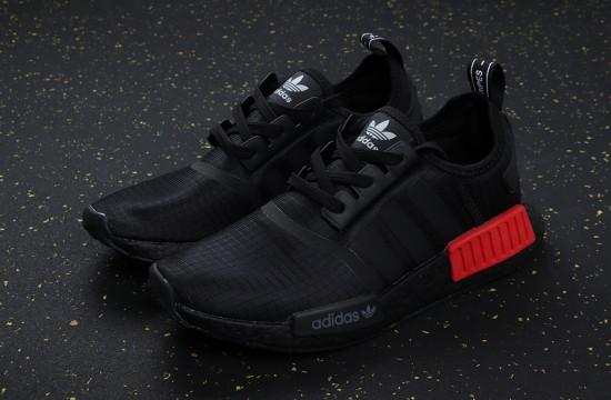 Adidas NMD R1 'Ripstop' Core Black Lush Red B37618