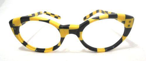 Striped cat eye glasses