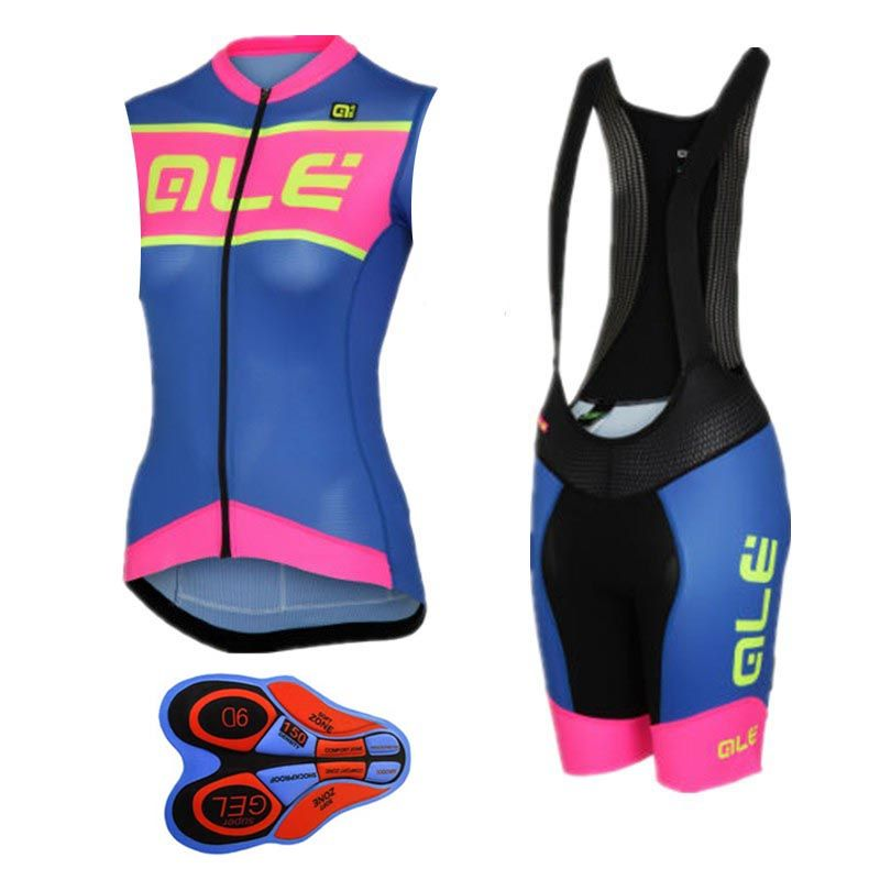 2017 Ale Cycling Jersey women bicycle clothing summer Mountain bike  sleeveless vest bib shorts suit mtb wear ropa ciclismo G0802  Affiliate 7081919cd