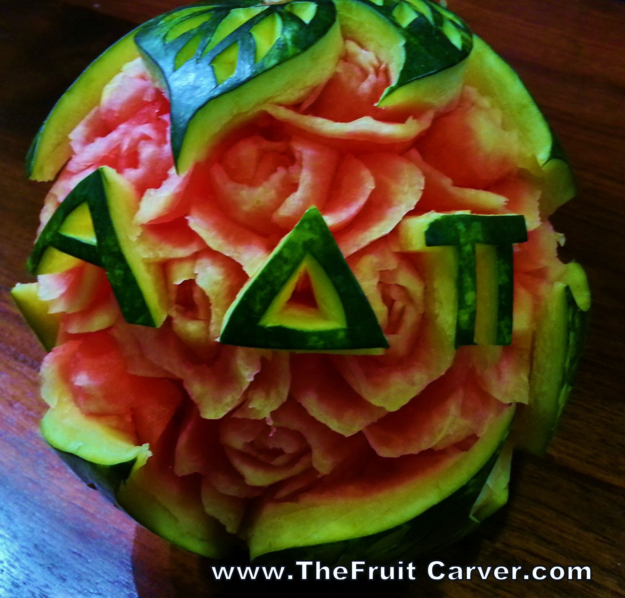 Do you know an alpha delta pi share this watermelon carving by