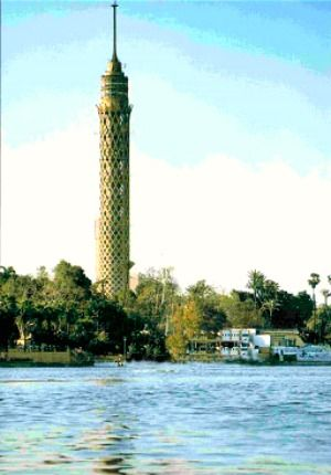 The Cairo Tower is a free-standing concrete tower positioned in Cairo, Egypt. At 187 meters tall, it has been the tallest structure in Egypt and North Africa about 50 years. It was the tallest structure in Africa for 10 years, until 1971 when it was surpassed by Hillbrow Tower in South Africa.