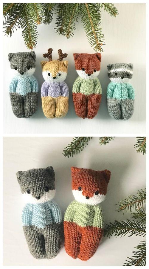 Knit One-Piece Izzy Buddy Dolls Toy Knitting Patterns - Knitting Pattern #knittedtoys
