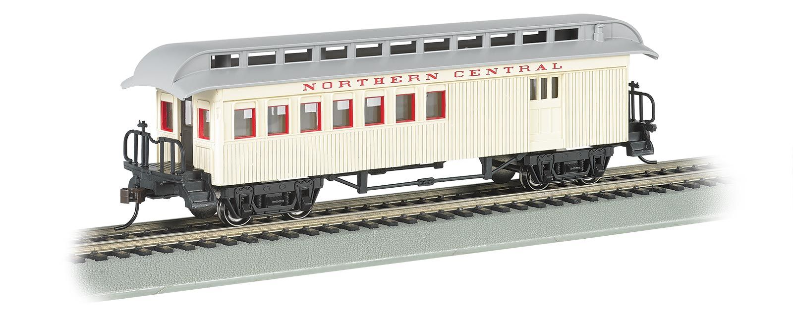 Bachmann Ho Scale Old Time Combine Car With Rounded End Clerestory Roof Northern Central Railroad Model Trains Model Train Sets Ho Model Trains
