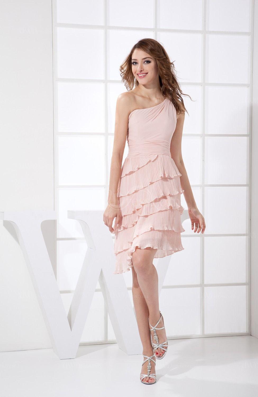 Großartig Short Light Pink Bridesmaid Dresses Galerie - Brautkleider ...