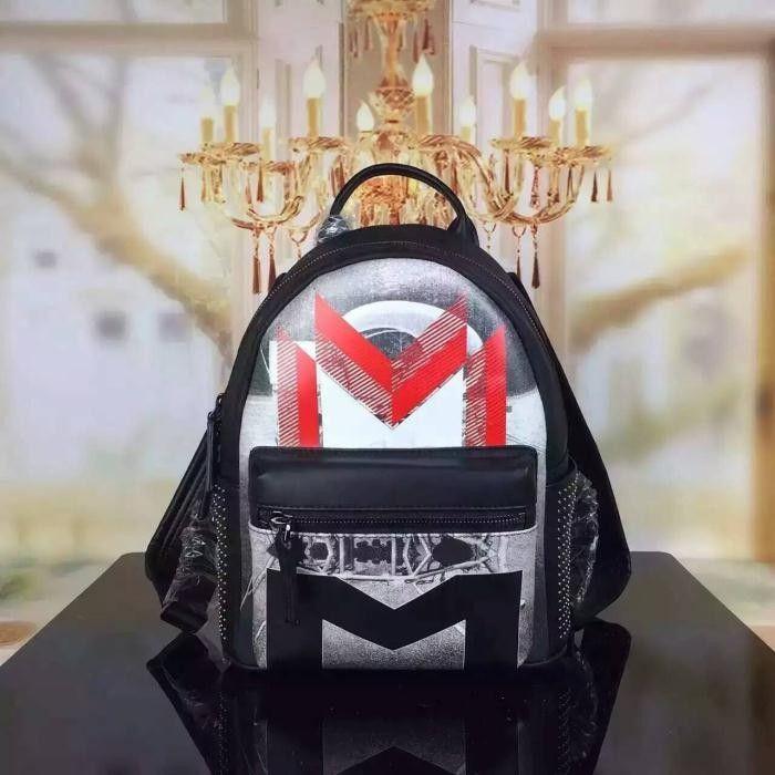 MCM Small Moonwalker Backpack In Red