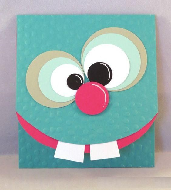 Card Making Ideas Birthday Part - 32: Funny Monster Card Idea