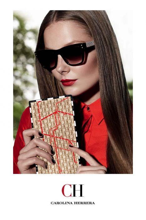 fc6f0a6cc1 Eniko Mihalik for Carolina Herrera Eyewear Fall Winter 2012 ...