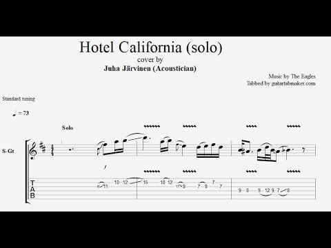 Hotel California Solo Guitar Tab Part 3 Guitar Tabs