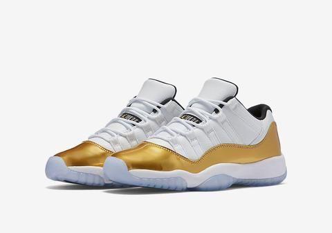d9c6dd233164 ... Nike Air Jordan Retro 11 Low White Metallic Gold 2016 Adult and GS PRE  ORDER ...