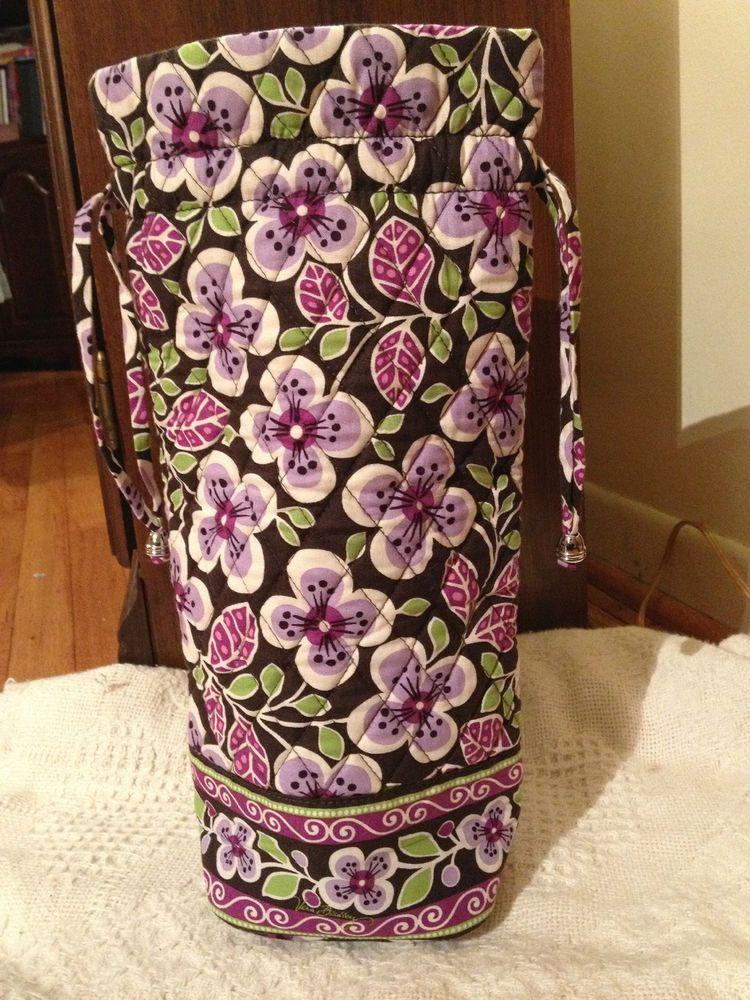 7518840a1513 Vera Bradley Cheers to You Bottle Wine Bag in Plum Petals Gift Bag!!  BIN 19.99  VeraBradley JANE JANE WANTS A VERA BRADLEY WINE BAG!