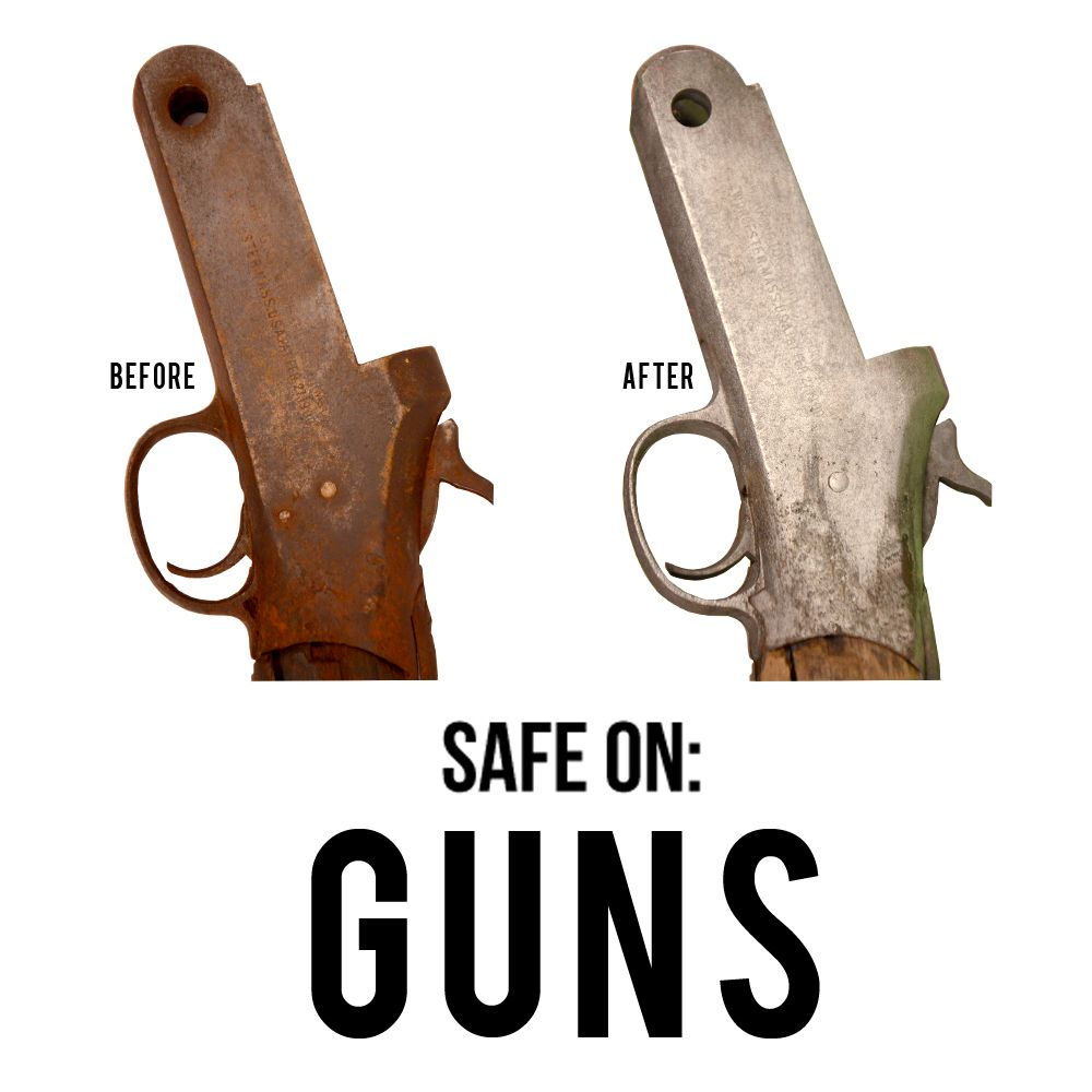 Remove Rust From Guns Clean Safe And Easy Metal Rescue Rust