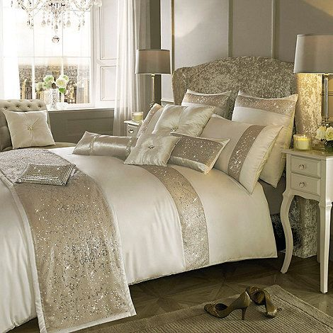 Kylie Minogue at home Cream embellished  Duo  bedding set  at Debenhams  Mobile. Kylie Minogue at home Cream embellished  Duo  bedding set  at
