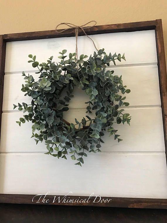 Photo of Farmhouse wreath – eucalyptus wreath – boxwood wreath – fixer upper wreath – lav…
