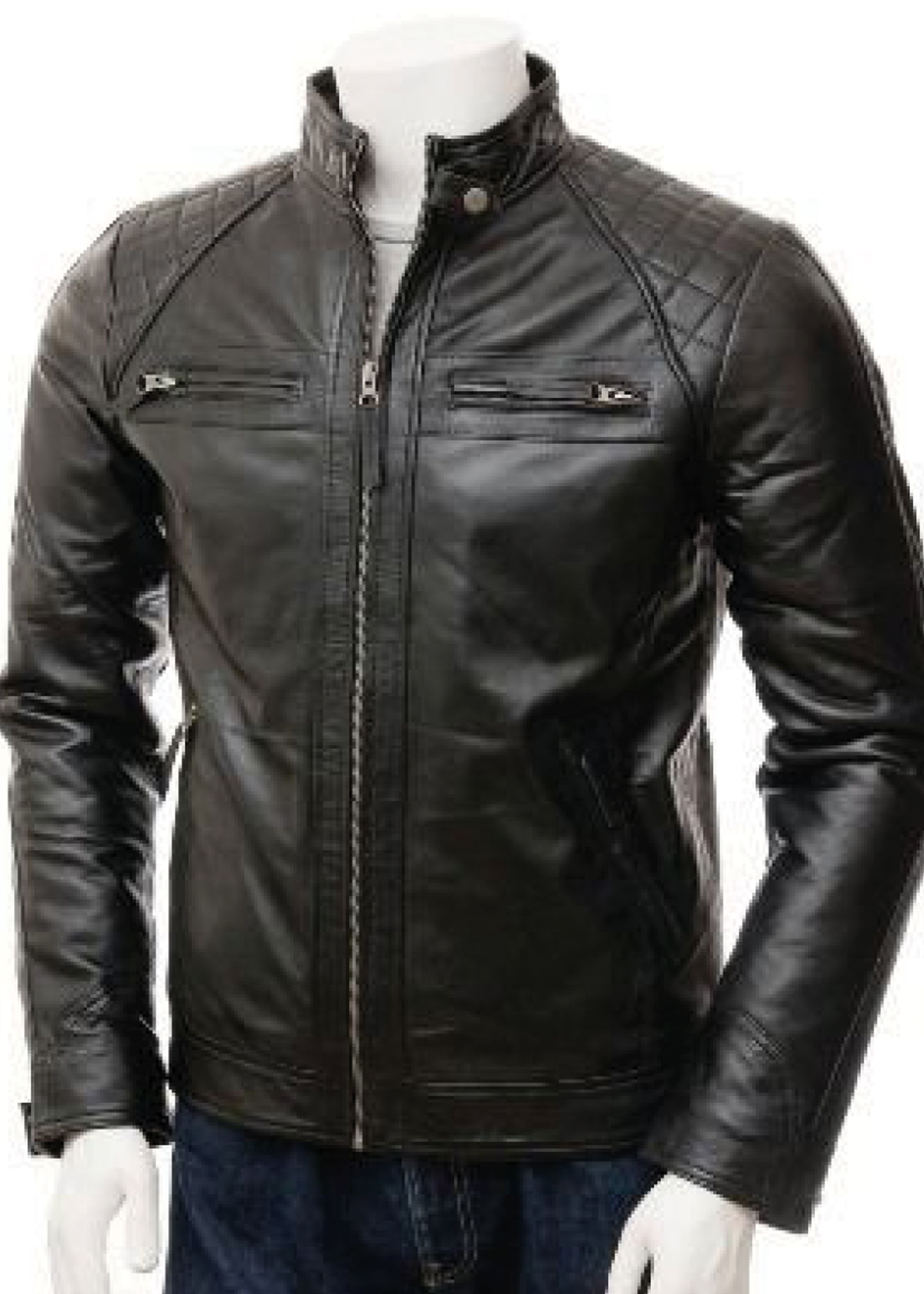 Black Leather Jacket For Mens In Usa Uk Canada Germany France New York Los Angeles Chicago Houston Philadelphia Phoenix San Antonio San Diego Dalla Leather Jacket Men Black Leather Biker Jacket