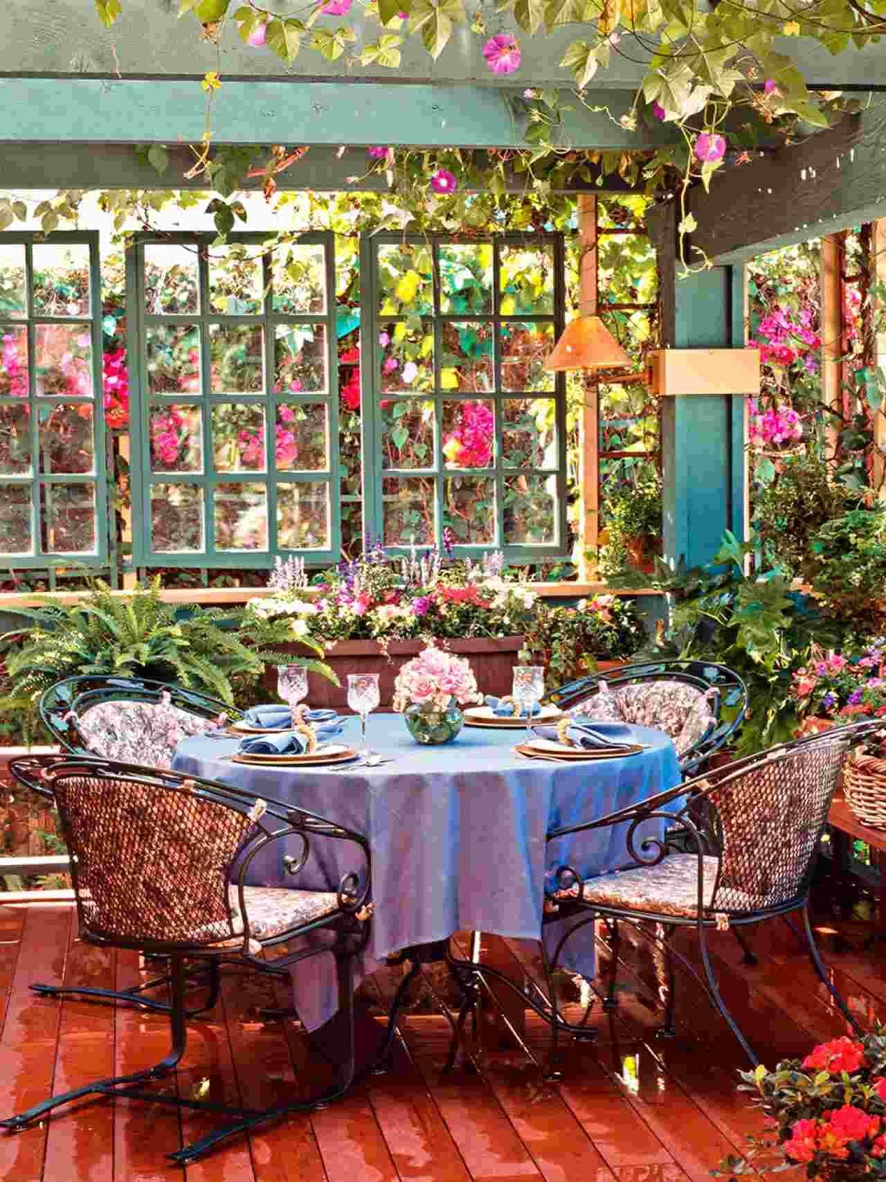 Salon de jardin pas cher 40 super id es pour votre - Petit jardin romantique tours ...