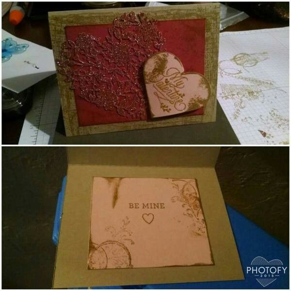 Stampin Up! Valentine with bloomin love and timeless textures stamp sets