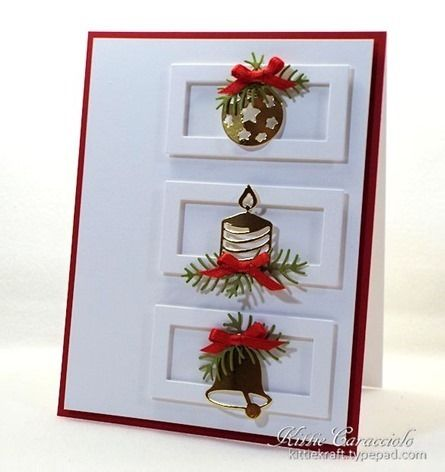 Rectangle 6-in-1 Frames, Pine Sprig Cluster, Christmas Icons