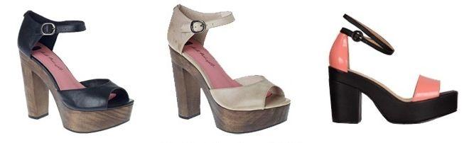Wood-sole heels