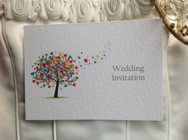 Love Tree Wedding Invitation With Turquoi More Home Birds Drawings Handmade Drawing