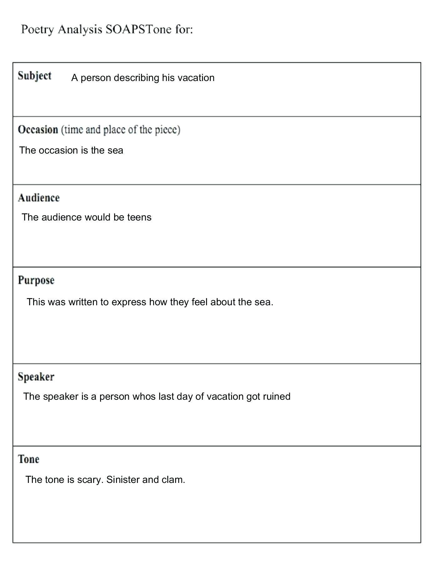 Poetryysis Worksheet Middle School Poem Worksheets