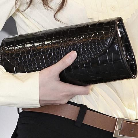 Women New Grain Shake Chain Clutches Bag