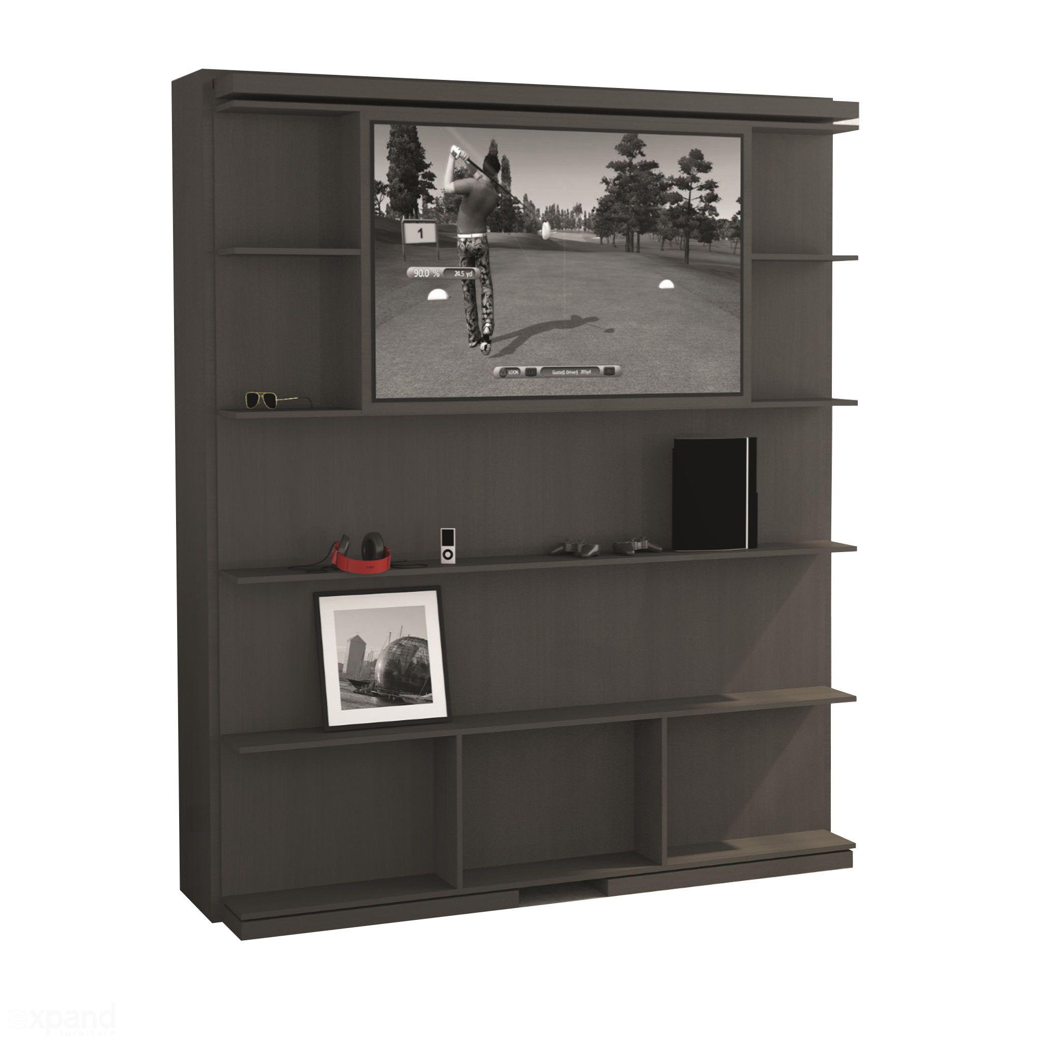 Compatto TV Revolving Bookshelf & TV Murphy Bed Bedroom