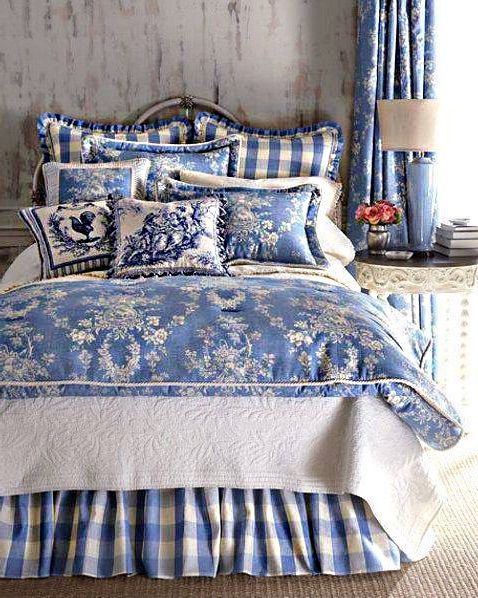 If You Like Country Style Blue And White French Country Decorating Bedroom Country Bedroom Decor Blue Bedroom