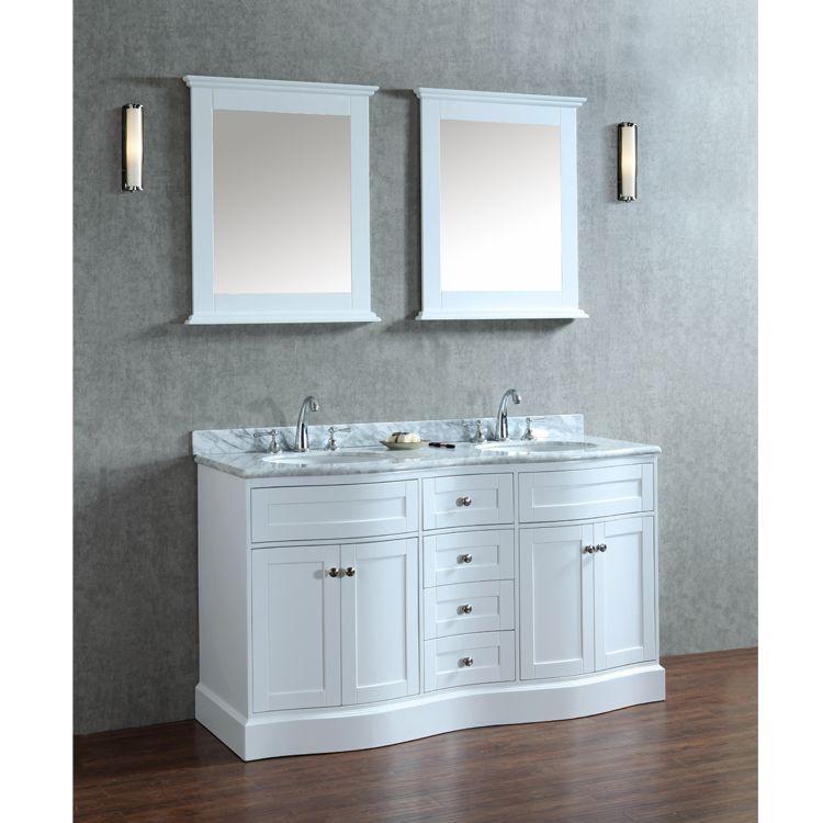 60 Inch Double Sink Bathroom Vanity Set Double Sink Bathroom