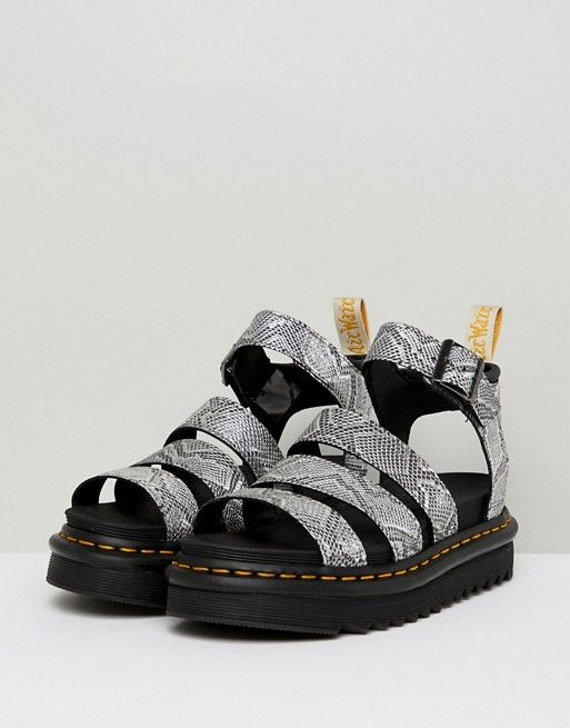 the best attitude 22aac 340fa Dr Martens Blaire Strappy Flat Sandals in Silver in 2019 ...