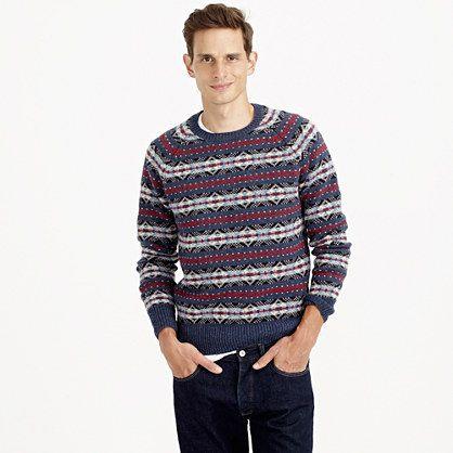 Lambswool Fair Isle sweater : sweaters | J.Crew