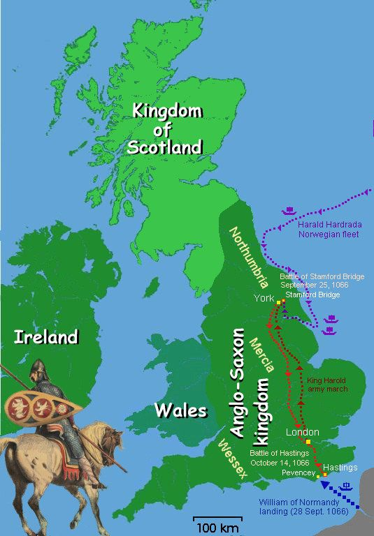 Map Of Uk 1066.Battle Of Hastings Map 1066 Mystery Of History Volume 2