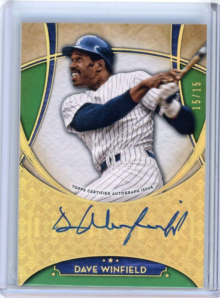 2017 topps five star dave winfield signatures green