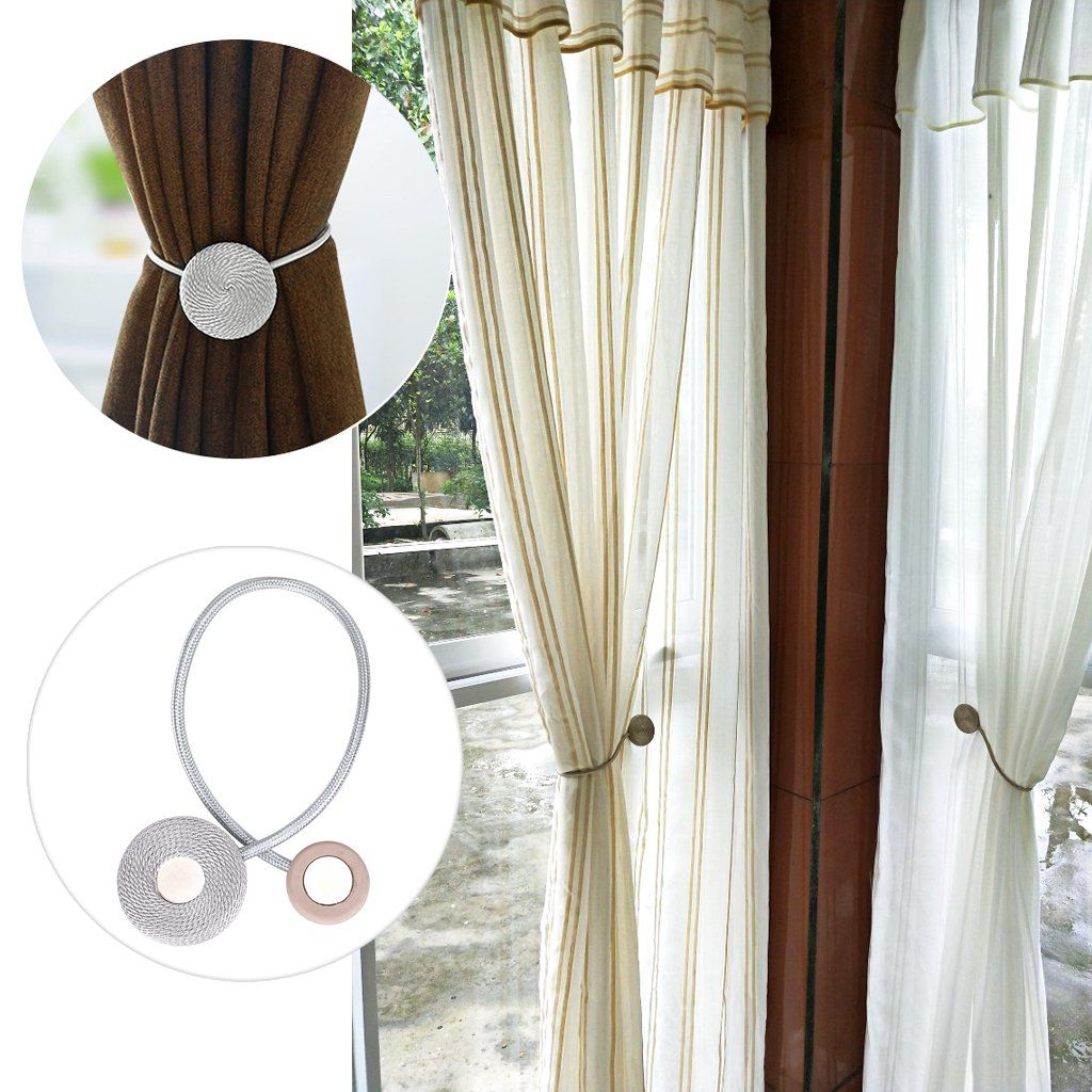 Btsky A Pair Of Magnetic Curtain Rope Clips Drapery Tiebacks