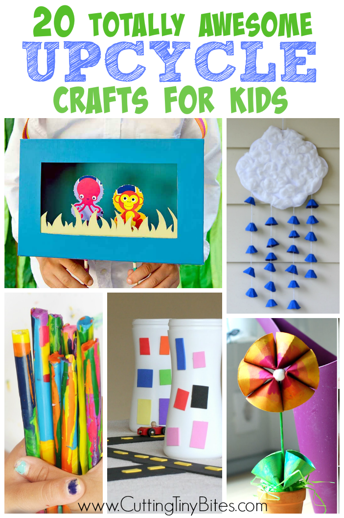 Totally awesome upcycle crafts for kids recycled for Easy recycling projects