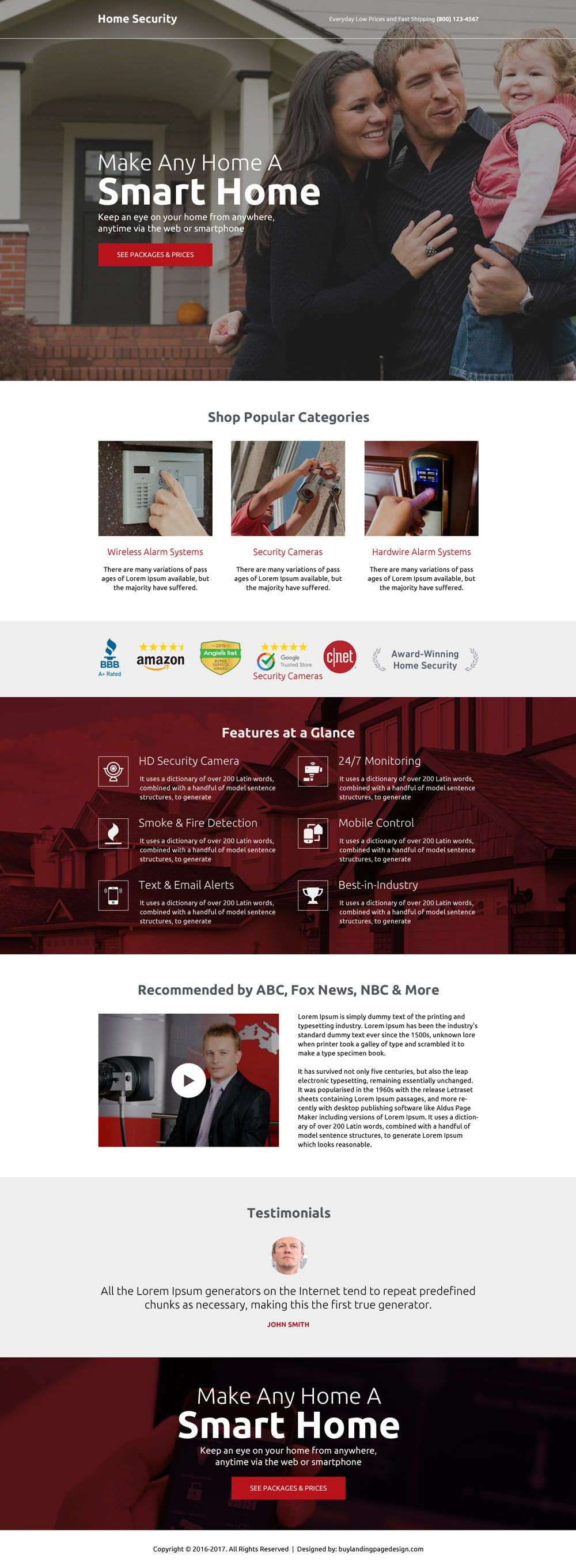 Top 12 Security Services And Device Selling Landing Pages Home Security Landing Page Design Page Design