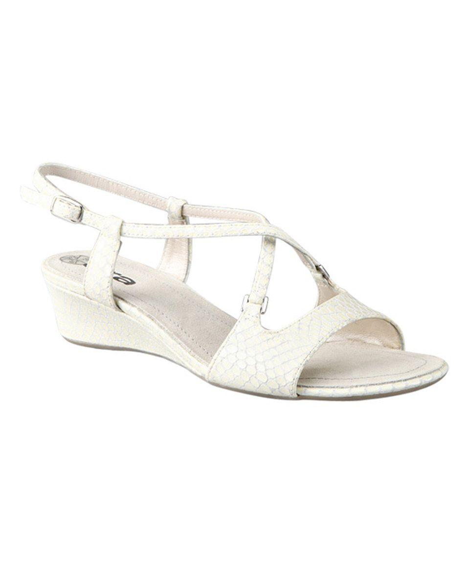 Look what I found on #zulily! ara Vipera Bianco Simona Leather Sandal by ara #zulilyfinds