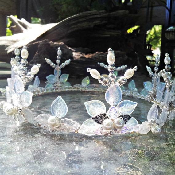 Princess Bride Snow Crown Tiara Fairytale Wedding Costume Crown Buttercup Cosplay