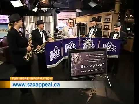 Sax Appeal performing the classic 'Benny Hill' song 'Yakety Sax' live on CTV!
