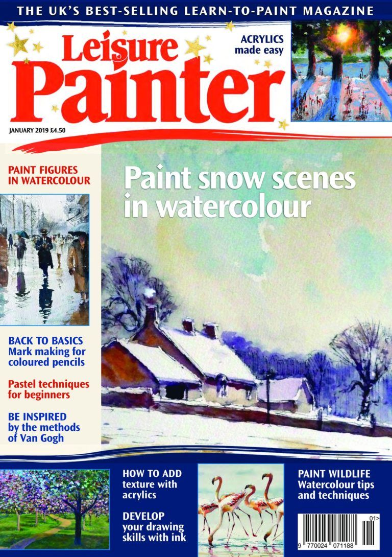 Leisure Painter January 2019 Watercolor Paintings Tutorials