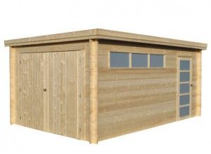 Garage En Bois 28 Mm 345 X 521 M Garage