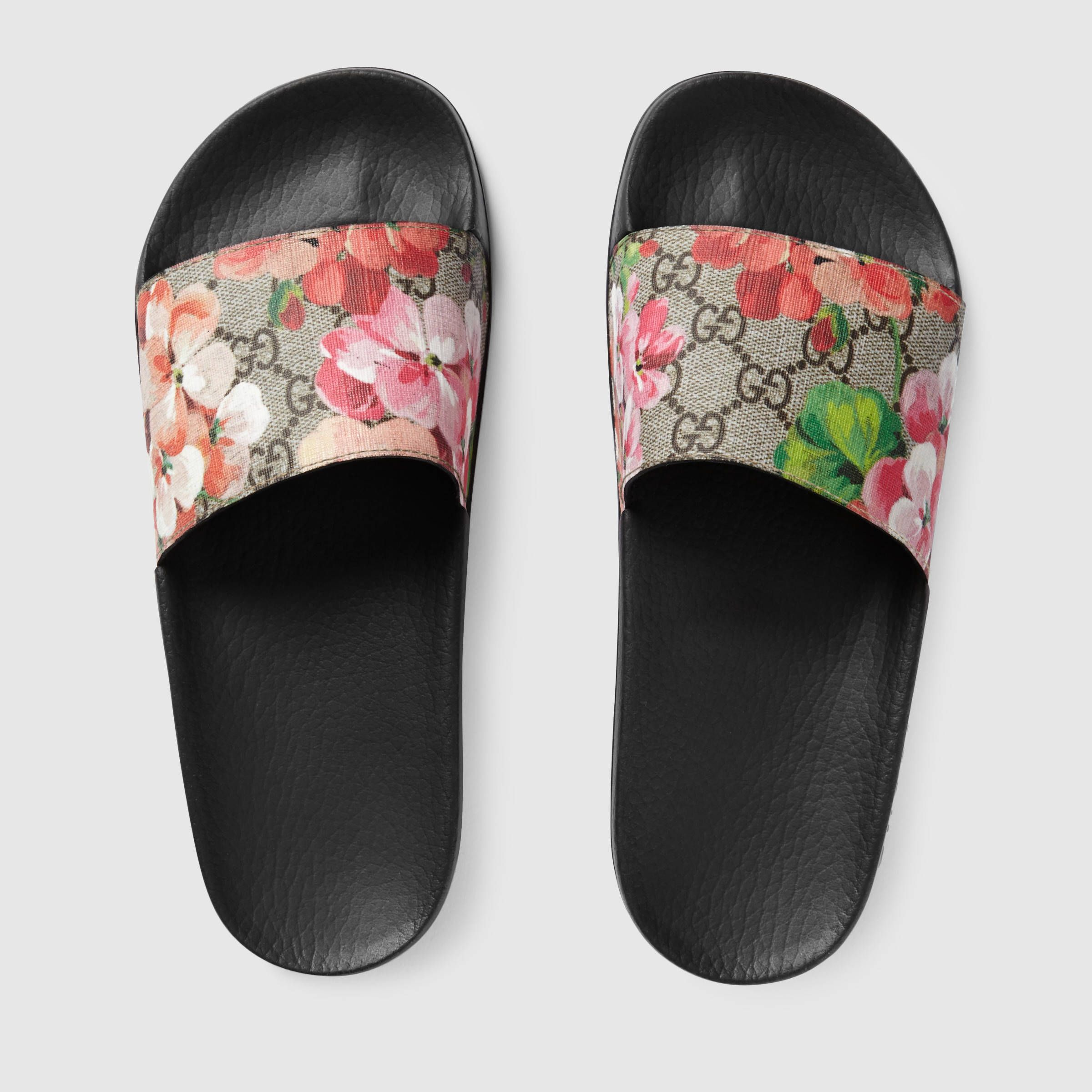 Gucci GG Blooms Supreme slide sandal Detail 3