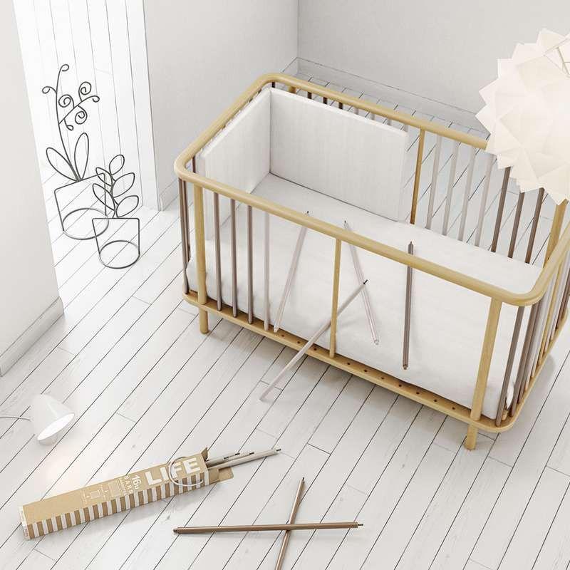 Micuna Life Gitterbett Kinderbett Mit Rahmen In Natur Krippe Kinder Bett Kinderbett