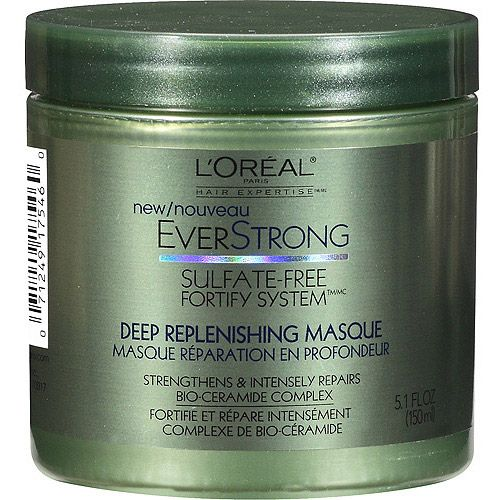 L'Oreal Hair Expertise Everstrong Sulfate-Free Fortify System Deep Replenishing Masque, 5.1 fl oz $7.74 @ Walmart