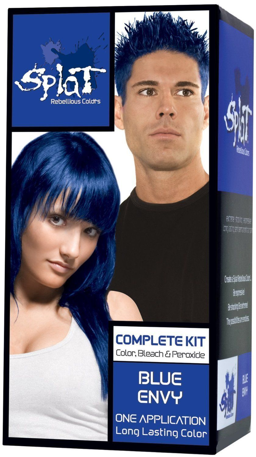 Splat Rebellious Colors Complete Hair Color Kit Blue Envy Pack Of
