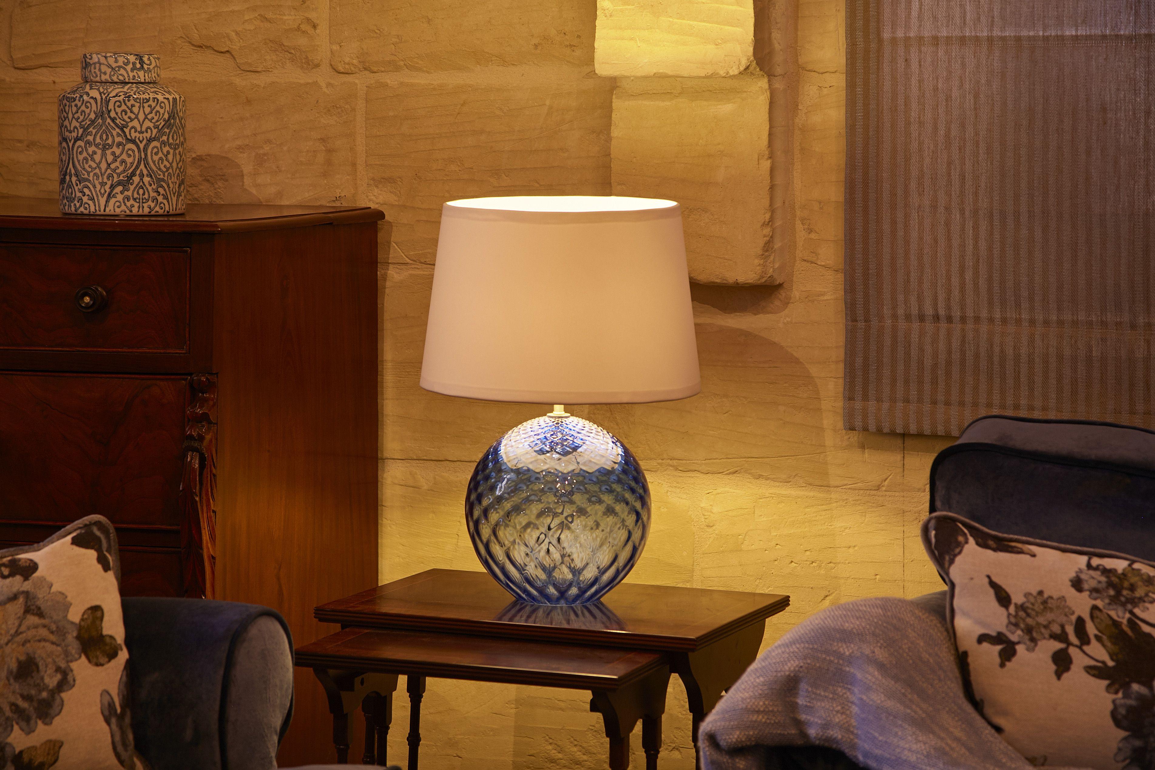 Handmade table lamps by mdina glass available in a range of colours handmade table lamps by mdina glass available in a range of colours shapes sizes aloadofball Choice Image
