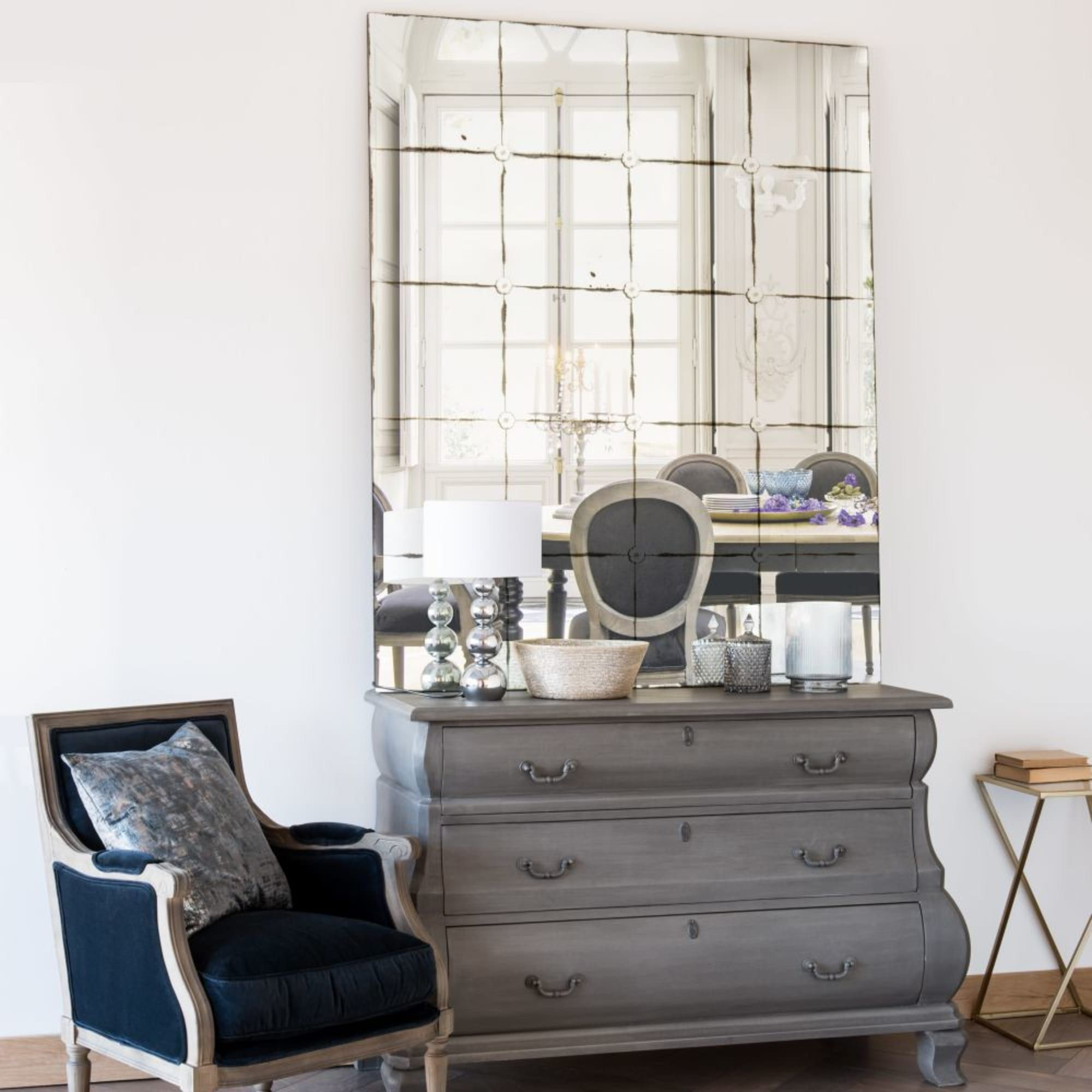 Aged Effect Mirror 120x150 Angelina Maisons Du Monde In 2020 Dining Room Bench Seating Living Room Chairs Dining Room Furniture