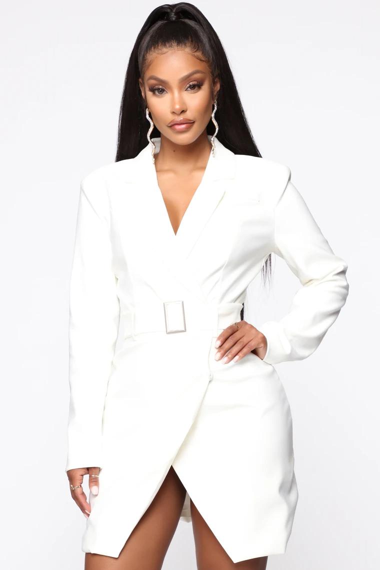 Well Noted Slay Blazer Dress White Dresses Blazer Dress Fashion Inspo Outfits [ 1140 x 760 Pixel ]