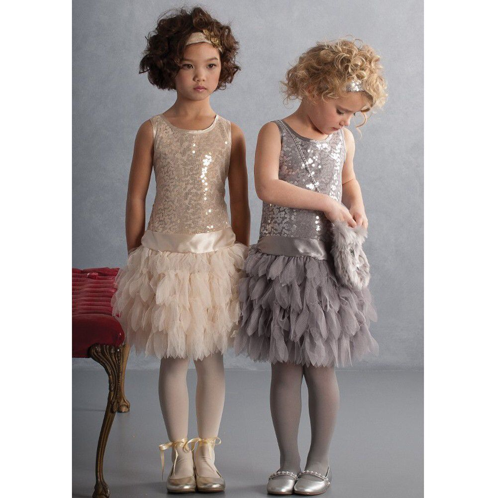 Roaring 20s Flower Girl Dress Gold Girls Christmas