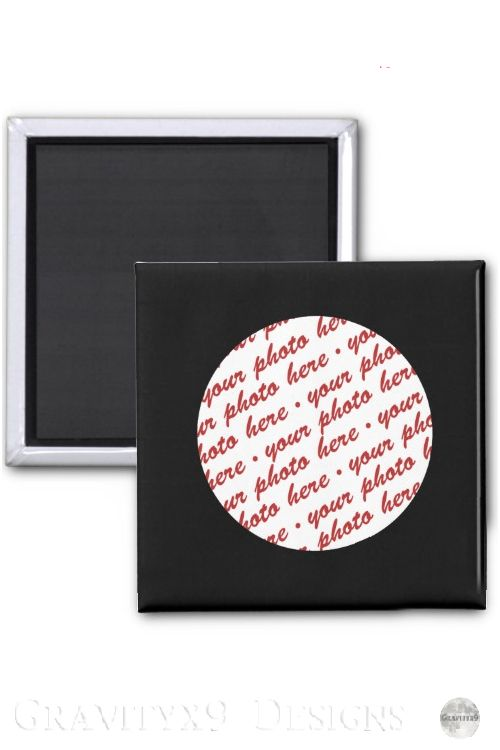 Simple Black Circle Photo Frame Template Magnet at  This magnet is available round or square shape custom black frame magnet gift ideas  budget gift ideas gifts under 10...