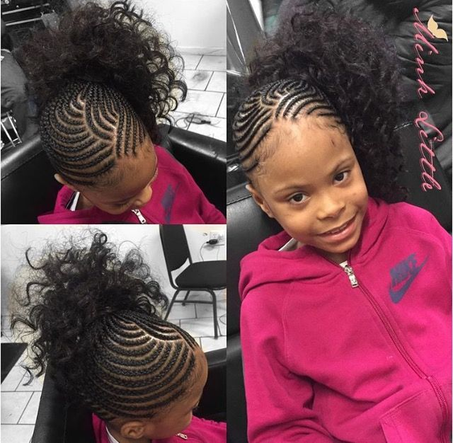 Braided Side Ponytail Kids Hairstyles Side Braid Ponytail Kids